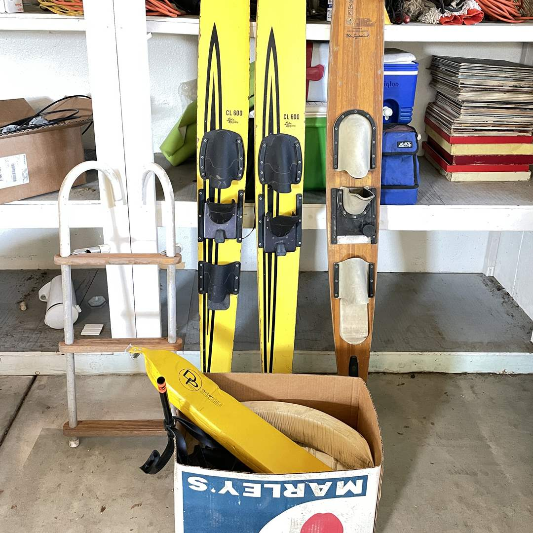 Lot # 205 - Vintage Water Skis and Boating Accessories  (main image)