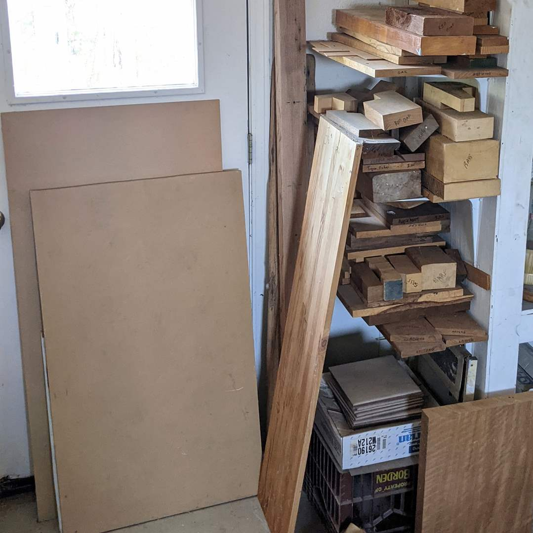 Lot # 206 - Wood Carving Woods and Tiles (main image)