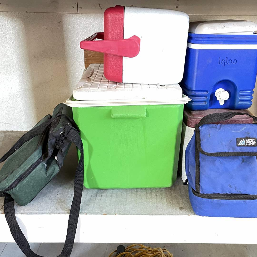 Lot # 212 - (6) Portable Coolers  (main image)