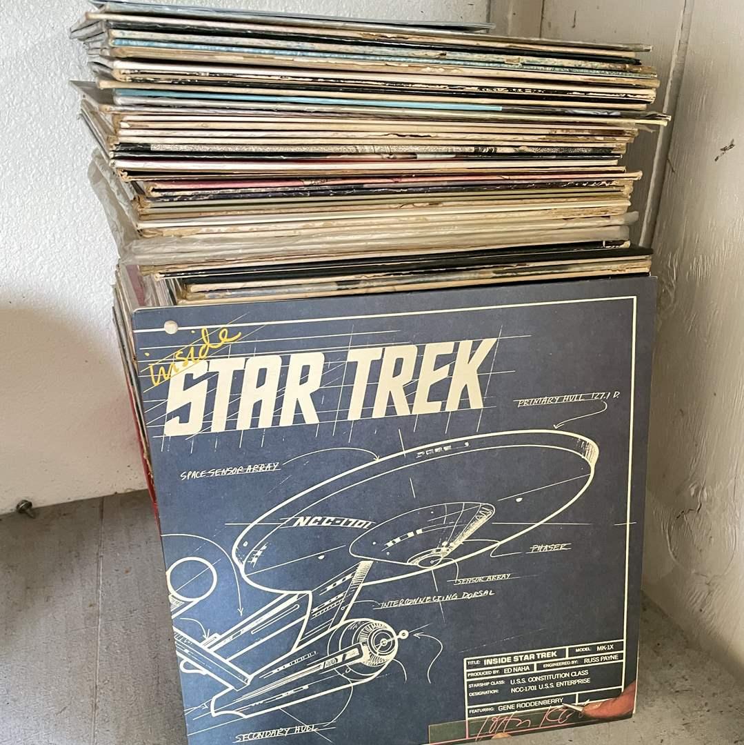 Lot # 213 - HUGE Stack of Vintage Vinyl Records  (main image)