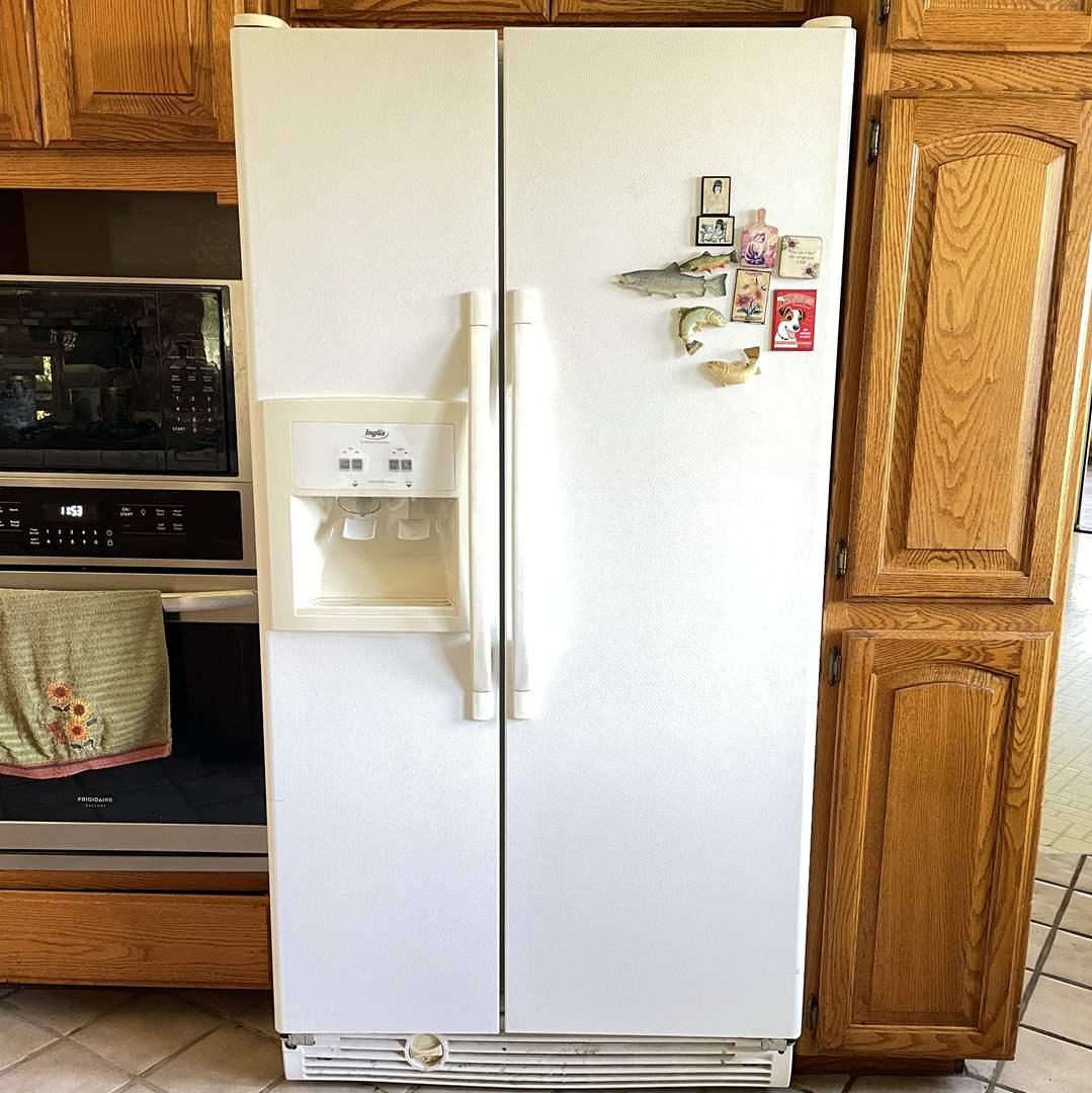 Lot # 220 - Whirlpool Inglis Refrigerator Freezer Combo  (main image)