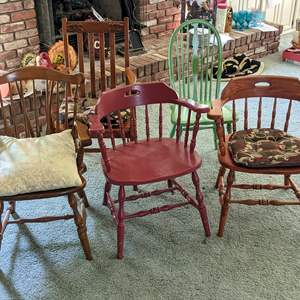 Lot # 139 - (5) Wood Chairs