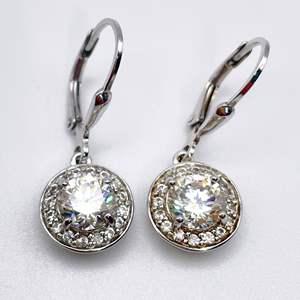 Lot # 226 - BBJ Halo Moissanite Earrings