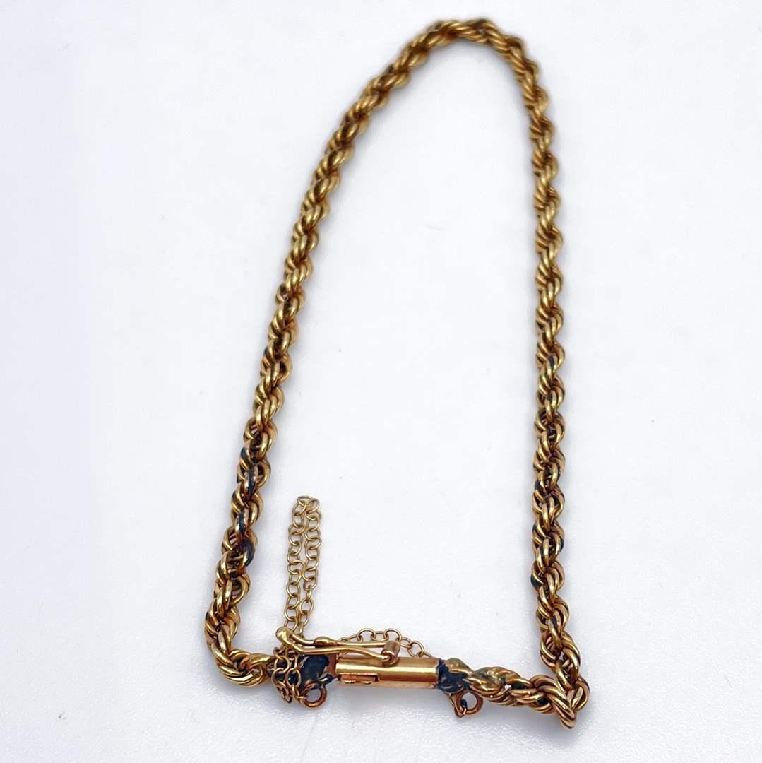 Lot # 228 - 14 KT Gold Bracelet Chain (5.06g) (main image)