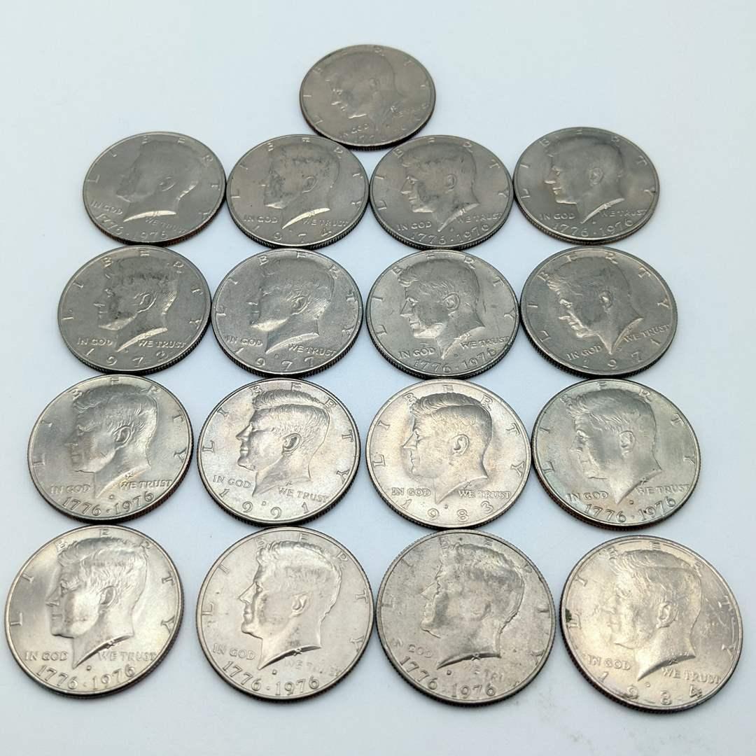 Lot # 230 - (17) Kennedy Half Dollars  (main image)