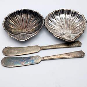 Lot # 234 - (4) Silver Plate Items