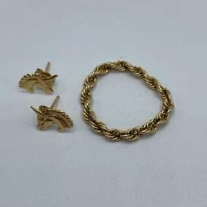Lot #  8 - 14k gold jewelry (1.7g)
