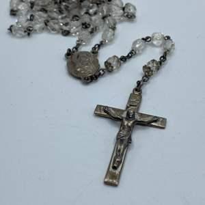 Lot #  14 - Sterling rosary (cross 6.1g)
