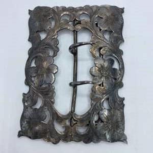 Lot #  18 - Vintage Sterling belt buckle (45.3g)
