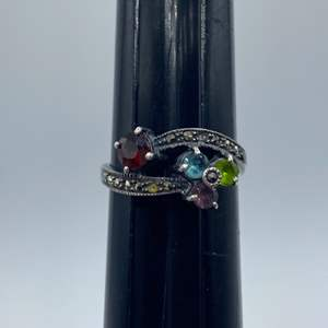 Lot #  24 - Sterling silver ring