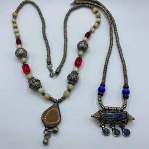 Lot #  25 - Vintage necklaces with Lapas