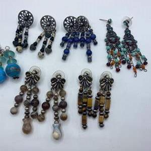Lot #  26 - Chandelier style pierced earrings