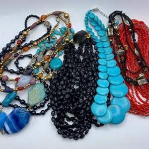 Lot #  30 - Pretty costume necklaces