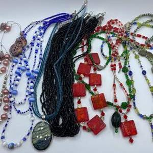Lot #  31 - Pretty costumes jewelry necklaces