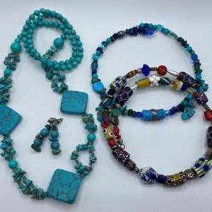Lot #  38 - Necklaces with matching earrings