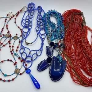 Lot #  39 - Hand beaded jewelry