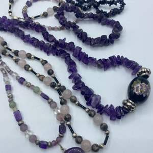 Lot #  43 - Amethyst, pink quartz and other beautiful jewelry