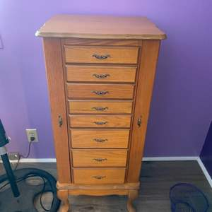 Lot #  58 - Jewelry cabinet with costume jewelry