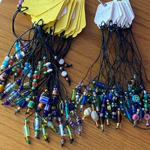 """Lot #  59 - Handmade bookmarks with glass beads """"ready to sell"""""""