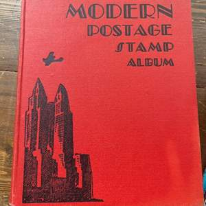 Lot #  74 - Vintage stamp albums and stamps
