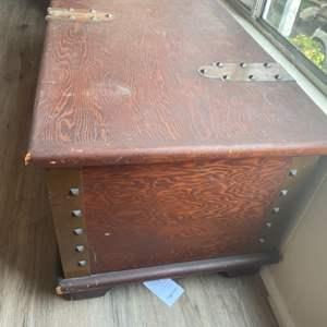 Lot #  82 - Vintage trunk