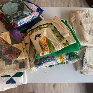 Lot #  83 - Quality projects of quilting, needlepoint and rug making