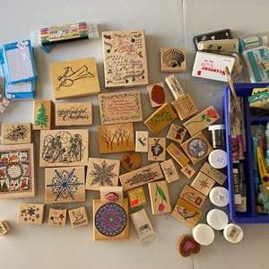 Lot #  89 - Rubber stamps and supplies