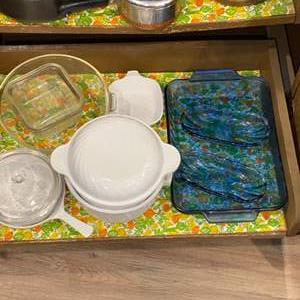 Lot #  95 - Pyrex, Corning and Anchor Hocking Items