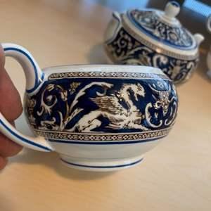 Lot #  97 - Wedgewood Florentine blue pattern dishes
