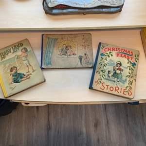 Lot # 101 - Three nice, very old children's books