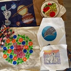 Lot # 125 - Needlepoint art ready to enjoy