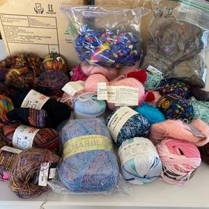 Lot # 126 - Selection of yarns: Wool, Cotton, Acrylic