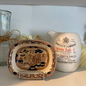 Lot # 172 - Gaudy Willow dish by Buffalo Pottery and other Vintage decor