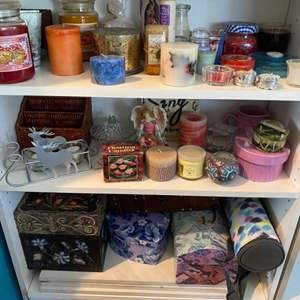 Lot # 174 - Candles and various boxes