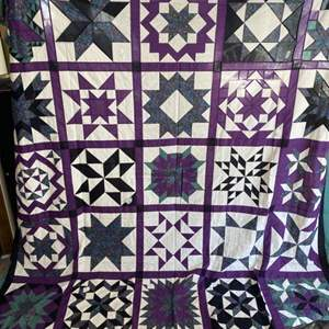 Lot # 179 - Two handmade quilts needing stuffing and backing to be finished