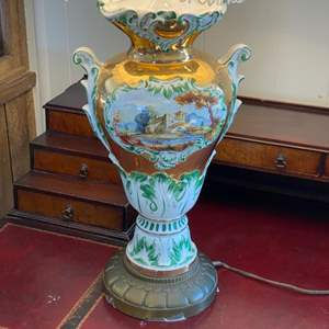 Lot # 182 - Great old Capodimonte porcelain style lamp