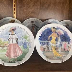Lot # 191 - D'Arceau Limoges France Les Femmes porcelain plates
