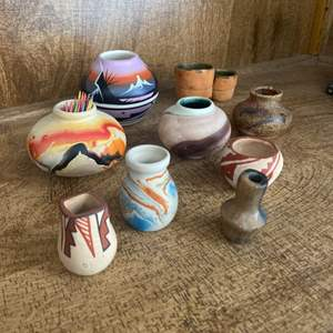 Lot # 195 - Handpainted Indian pottery