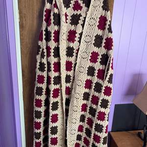 Lot # 206 - Crocheted blanket shawl