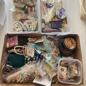 Lot # 227 - Ribbons, buttons and beads
