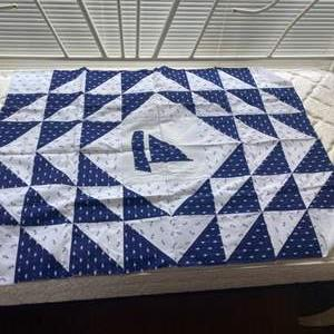 Lot # 235 - 3 Nautical quilt fronts, needs batting and backs