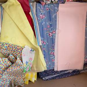 Lot # 236 - Tub full of fabrics