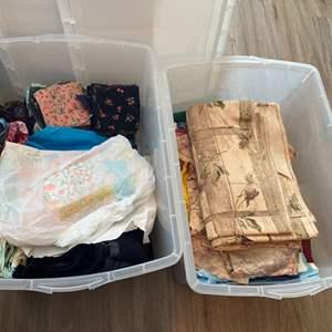 Lot # 238 - 2 Tubs of fabrics