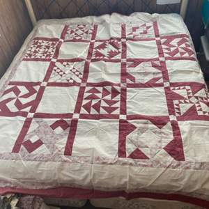 Lot # 239 - 2 Unfinished handmade quilts king-size needs stuffing and backing