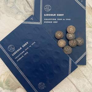 Lot # 243 - Pennies and antique buttons