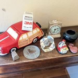 Lot # 38 - Vintage Lidded Car Cookie Jar and More Desk Accessories