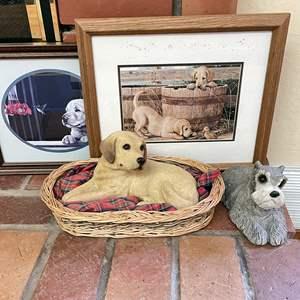 Lot # 19 - Sandicast Dog Sculptures and Art