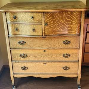 Lot # 44 - Gorgeous Tallboy on Casters