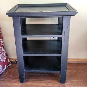 Lot # 46 - Small Black End Table, SOLID and Surprisingly Heavy