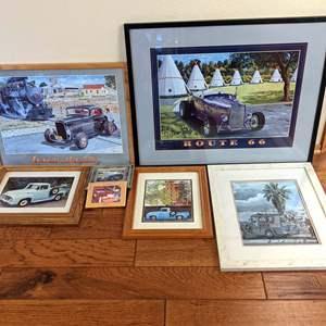 Lot # 56 - Automotive Art (Vintage Hotrods and Trucks)